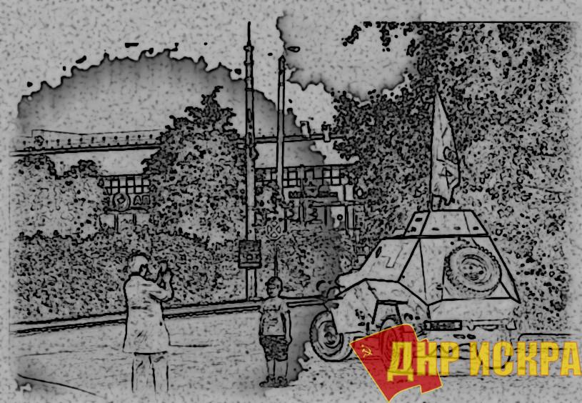 Мы - мирные люди, но наш бронепоезд стоит на запасном пути! Коммунисты проехали на броневике по Новосибирской области